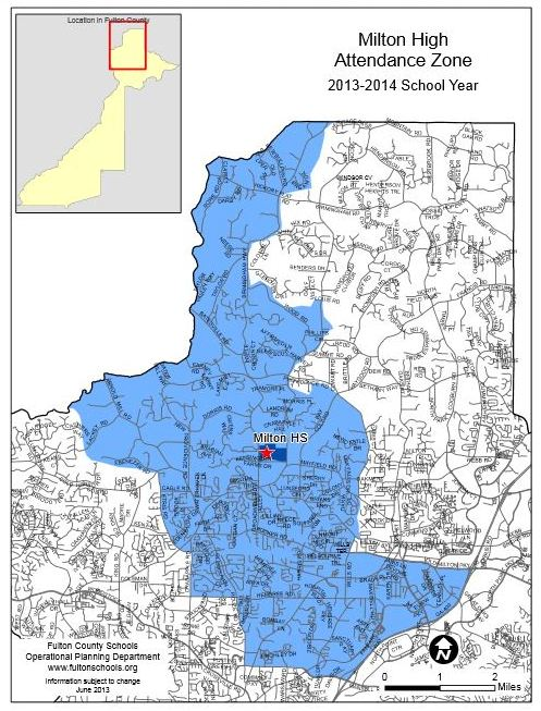 Milton High School Map Zone Attendance