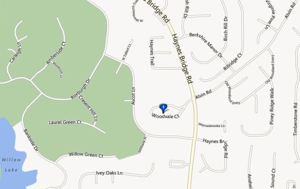 Map Location Woodvale Alpharetta Subdivision