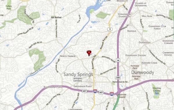 Atlanta Map Location Of Brandon Mill Woods