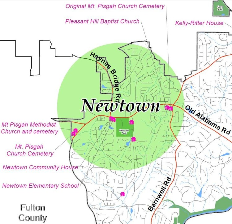 Newtown Location On Map Johns Creek
