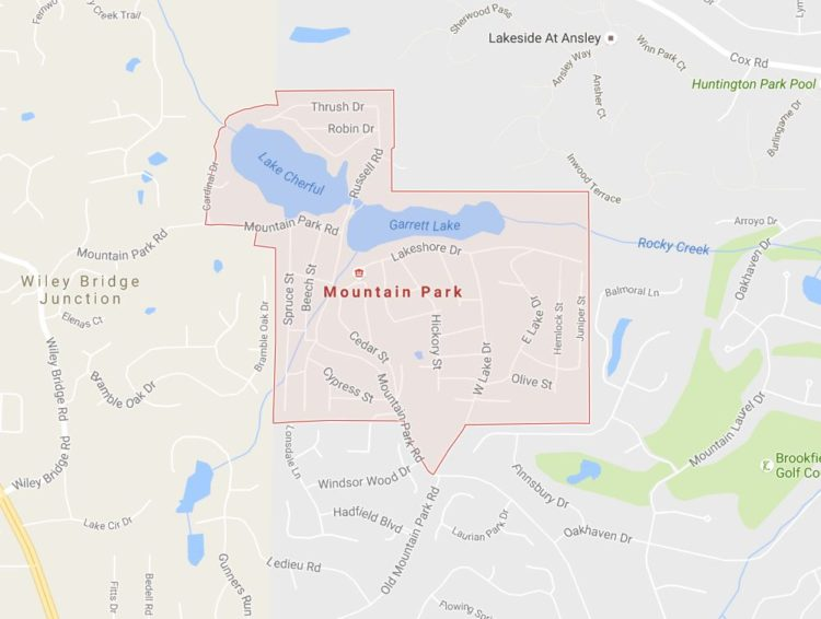Mountain Park Roswell GA Map Location