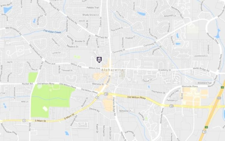 Teasley Place Condo Alpharetta Location Map